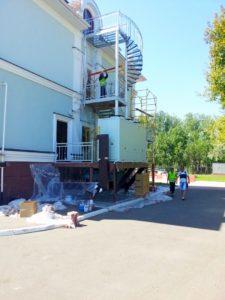 2014г. Антикоррозионная обработка и покраска пожарных лестниц